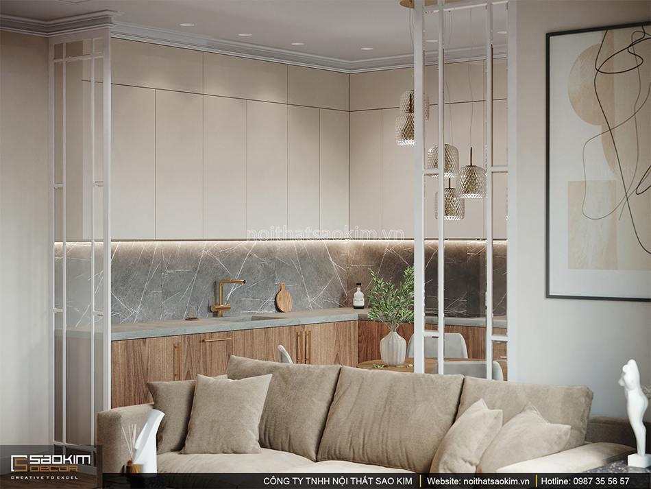 Thiết kế nội thất phòng ăn và bếp chung cư