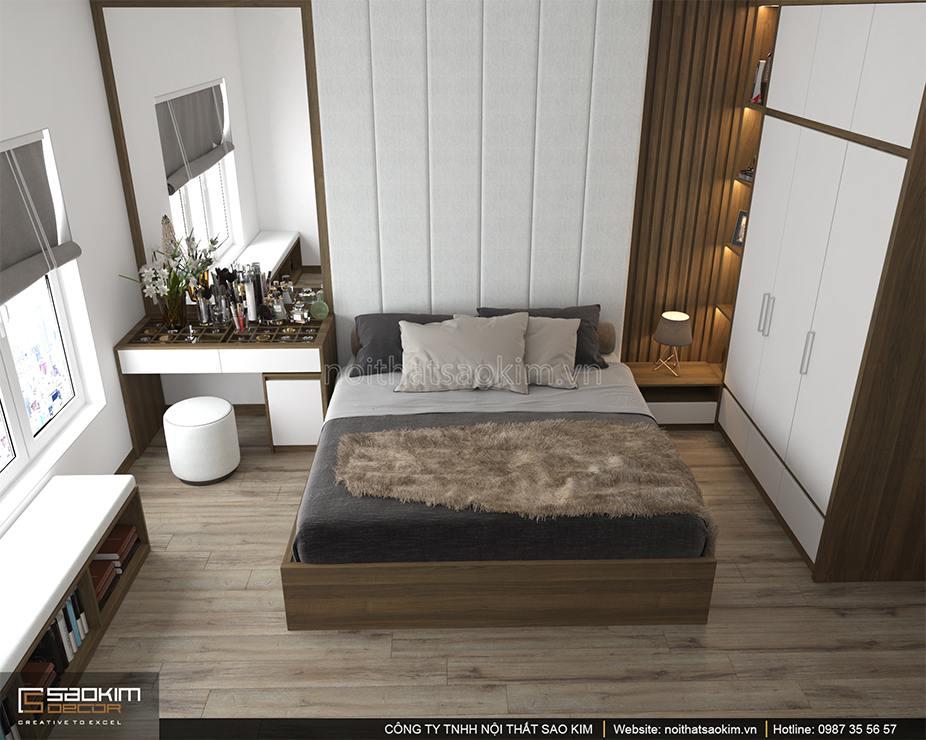 Thiết kế phòng ngủ master căn hộ 100m2 PHC Complex