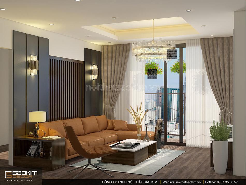 Thiết kế căn hộ 100m2 PHC Complex