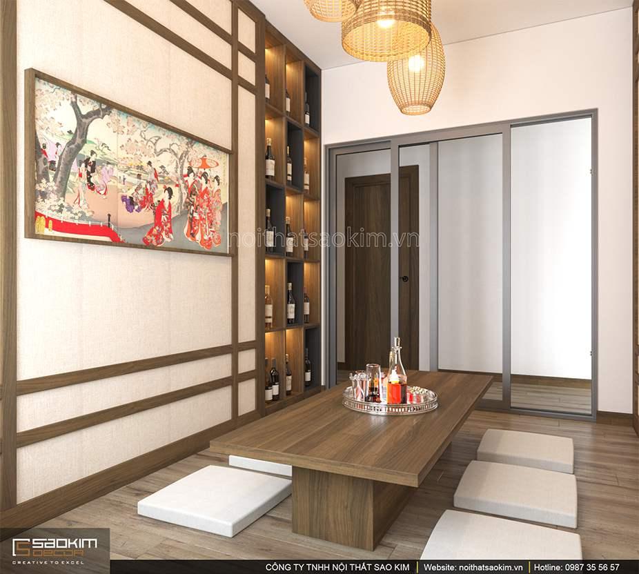 Thiết kế nội thất phòng ăn căn hộ 100m2 PHC Complex