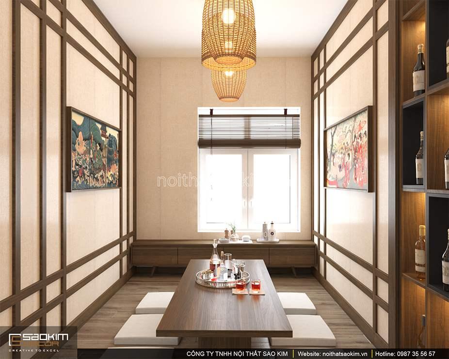 Thiết kế nội thất phòng ăn chung cư 100m2 PHC Complex