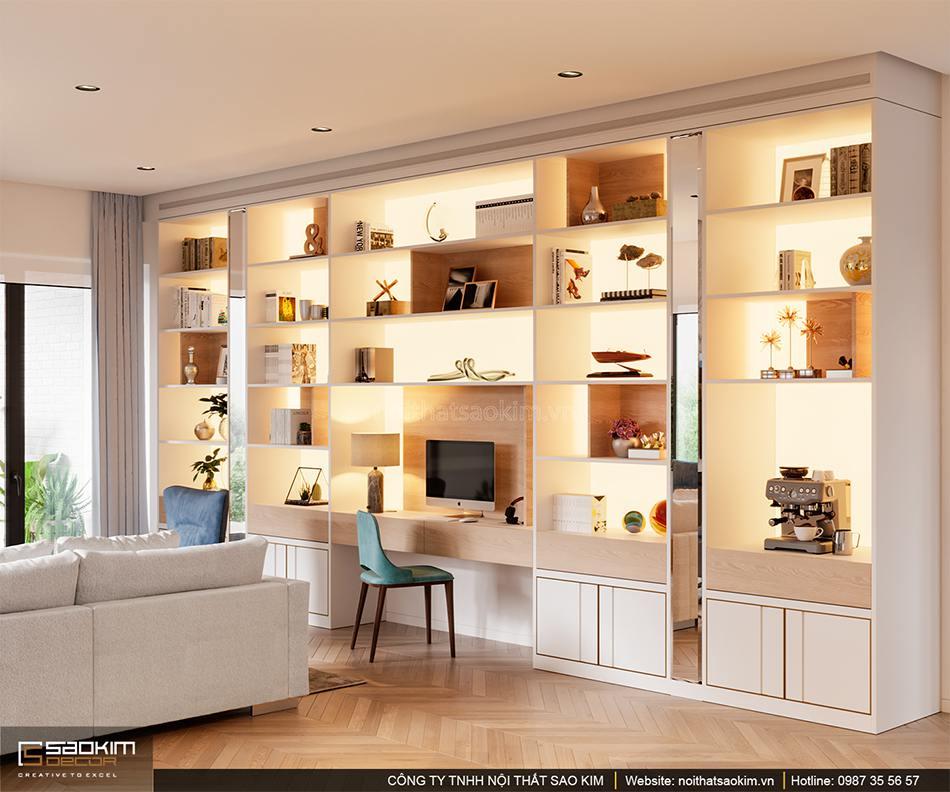Thiết kế nội thất phòng khách căn hộ cao cấp Vinhomes West Point