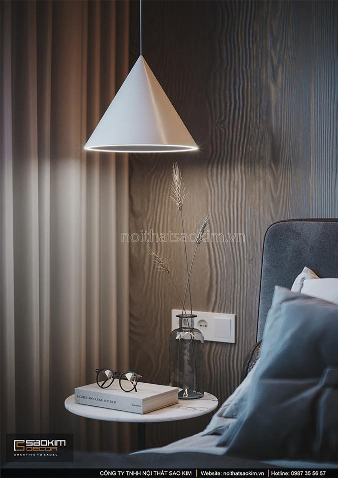Từng góc nhỏ trong phòng ngủ đều được decor đẹp mắt