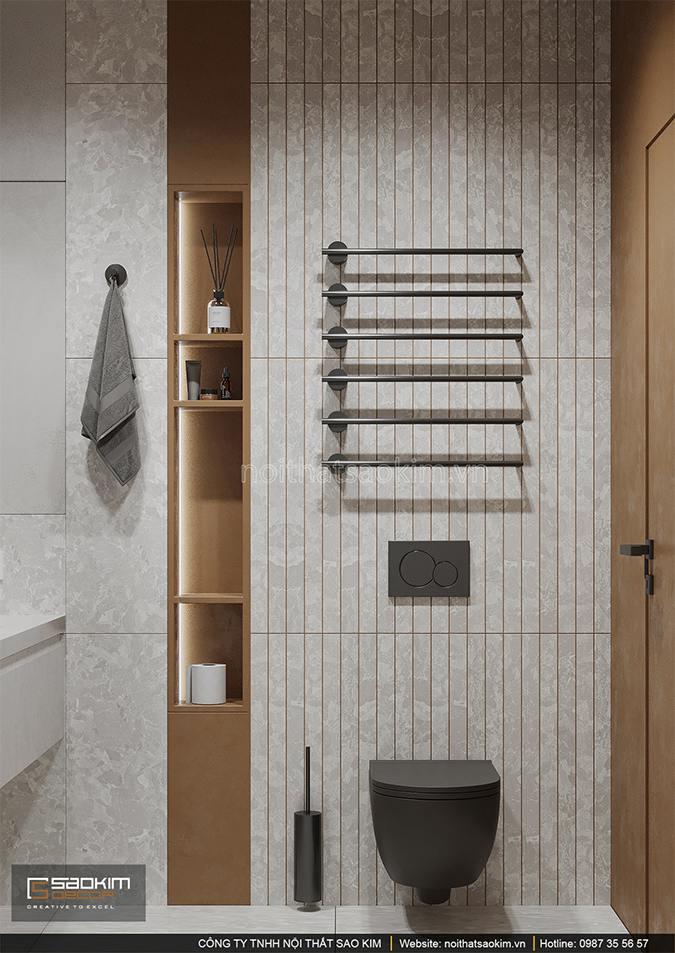 Thiết kế nội thất phòng tắm căn hộ chung cư Vinhomes Smart City
