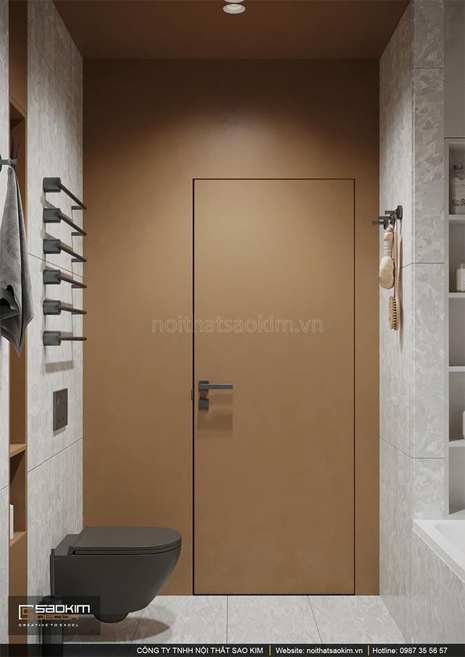 Không gian phòng tắm chung cư