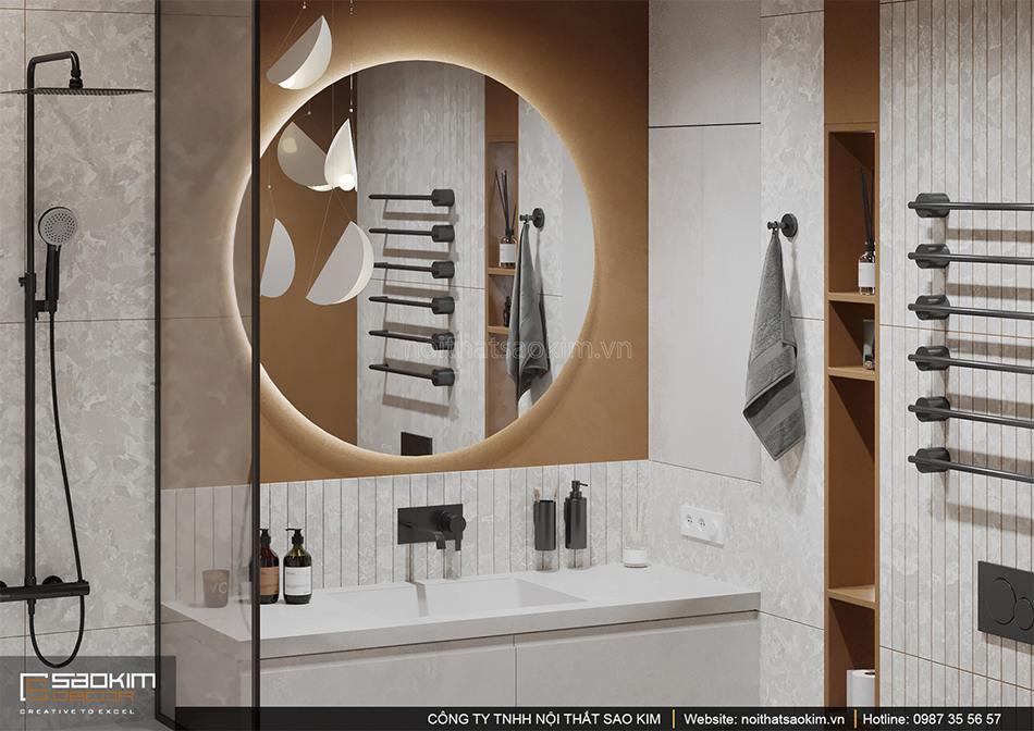 Từng chi tiết nội thất trong không gian phòng tắm được đầu tư kỹ lưỡng