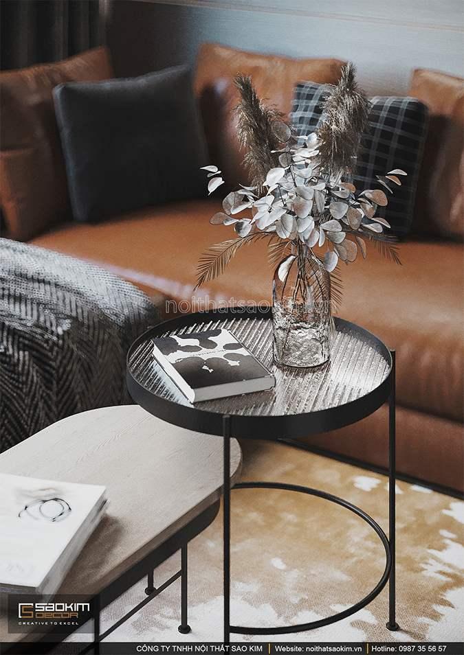 Thiết kế nội thất phòng khách chung cư đẹp nhẹ nhàng, quyến rũ
