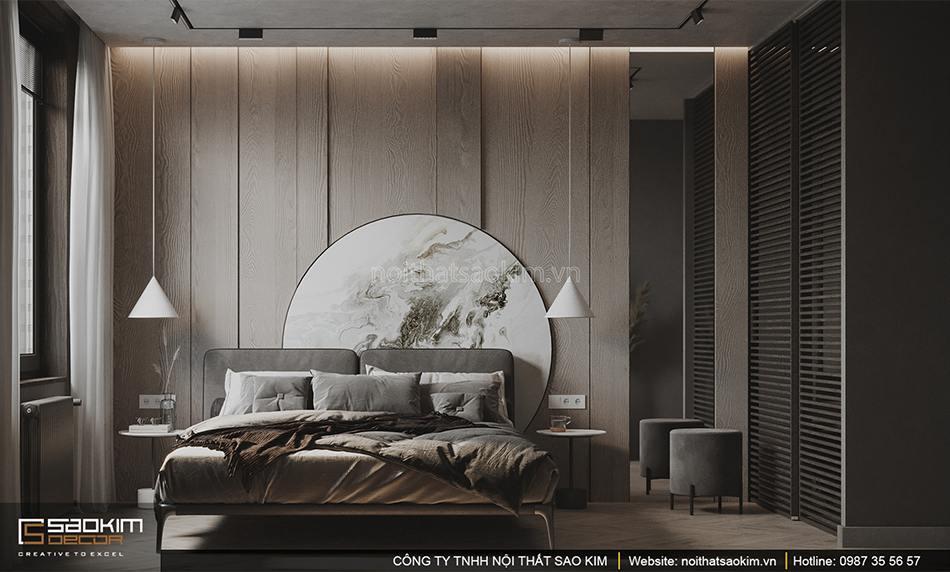 Thiết kế căn hộ chung cư Vinhomes Smart City với không gian phòng ngủ theo phong cách Scandinavian
