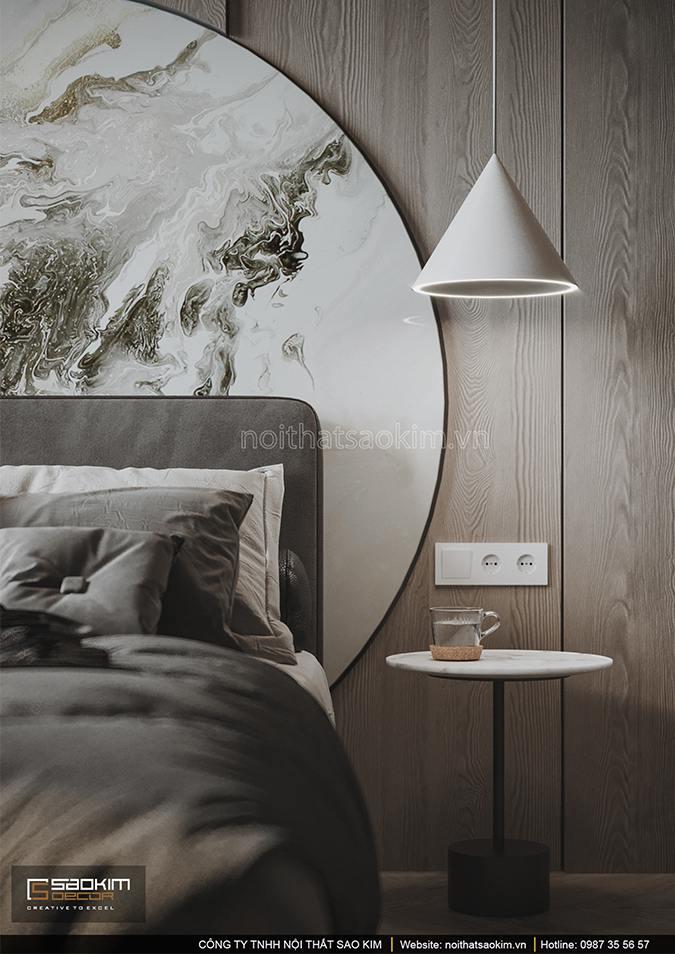 Thiết kế phòng ngủ chung cư mang cảm giác bình yên, nhẹ nhàng