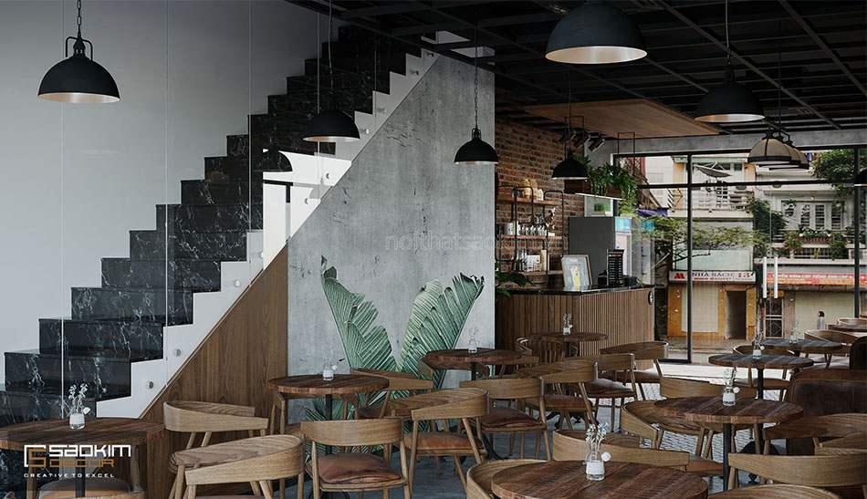 Thiết kế nhà liền kề La Casta Văn Phú với tầng 1 là không gian quán cafe