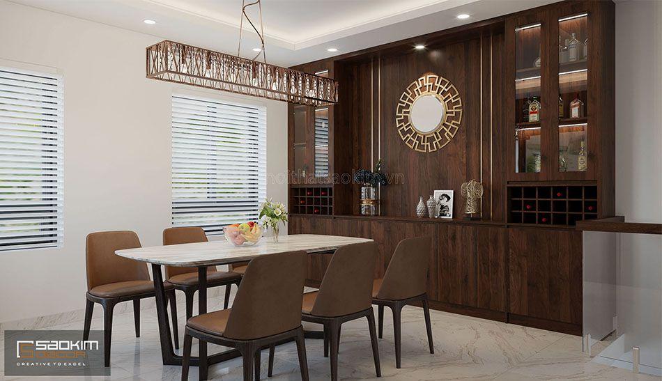 Thiết kế phòng bếp và phòng ăn nhà liền kề La Casta Văn Phú