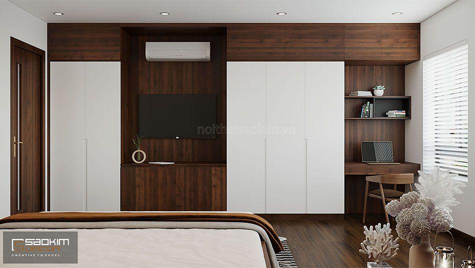 Thiết kế phòng ngủ master nhà liền kề