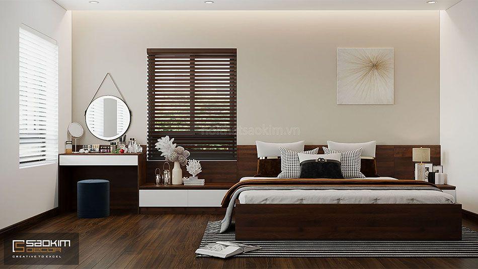 Thiết kế phòng ngủ nhà master liền kề đẹp La Casta Văn Phú