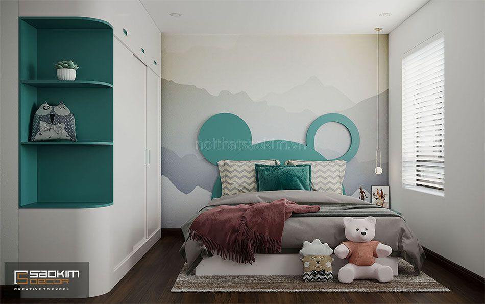Thiết kế phòng ngủ bé gái nhà liền kề đẹp La Casta Văn Phú