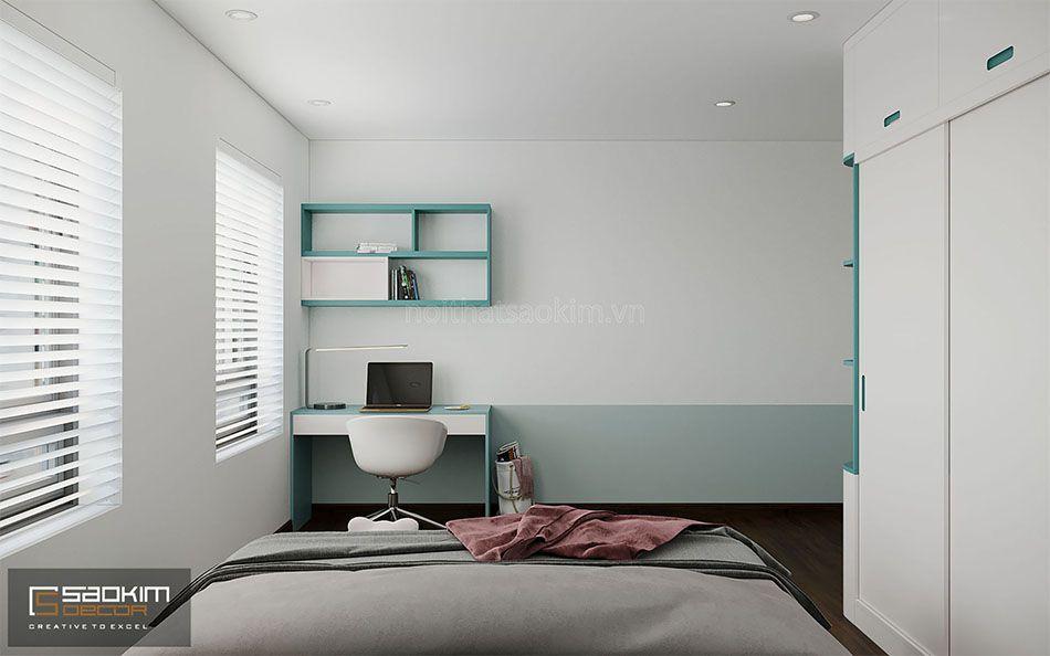 Thiết kế phòng ngủ bé gái nhà liền kề