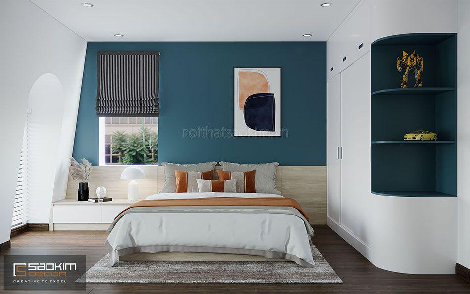Thiết kế phòng ngủ bé trai nhà liền kề đẹp La Casta Văn Phú