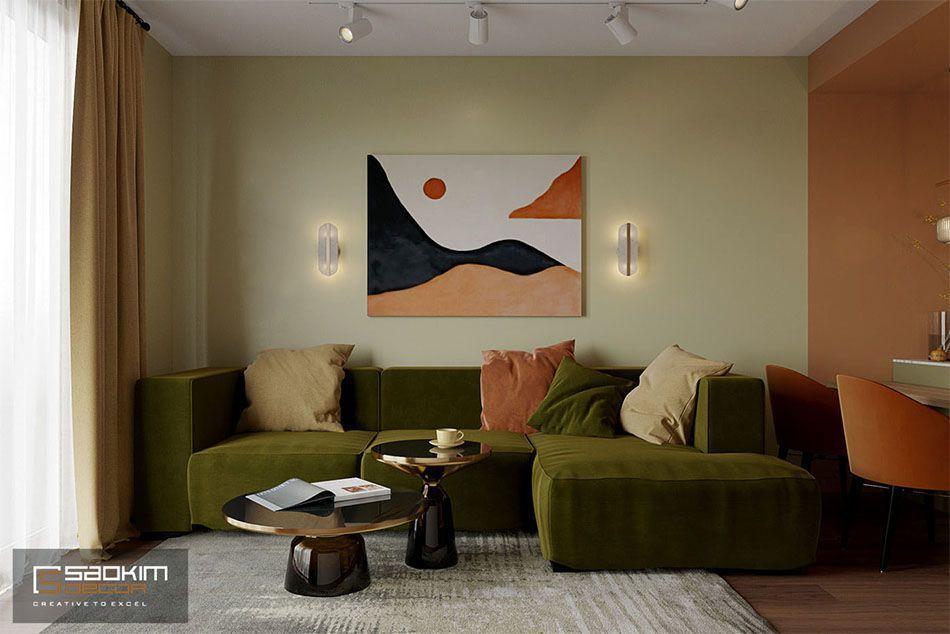 Phong cách thiết kế nội thất Color block sử dụng những khối màu sắc tương phản làm nổi bật những đường nét nội thất