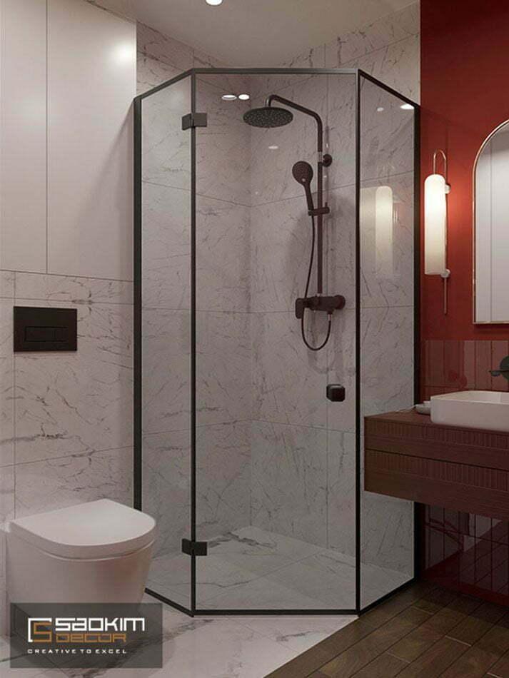 Thiết kế phòng tắm căn hộ 50m2 Sunshine Garden