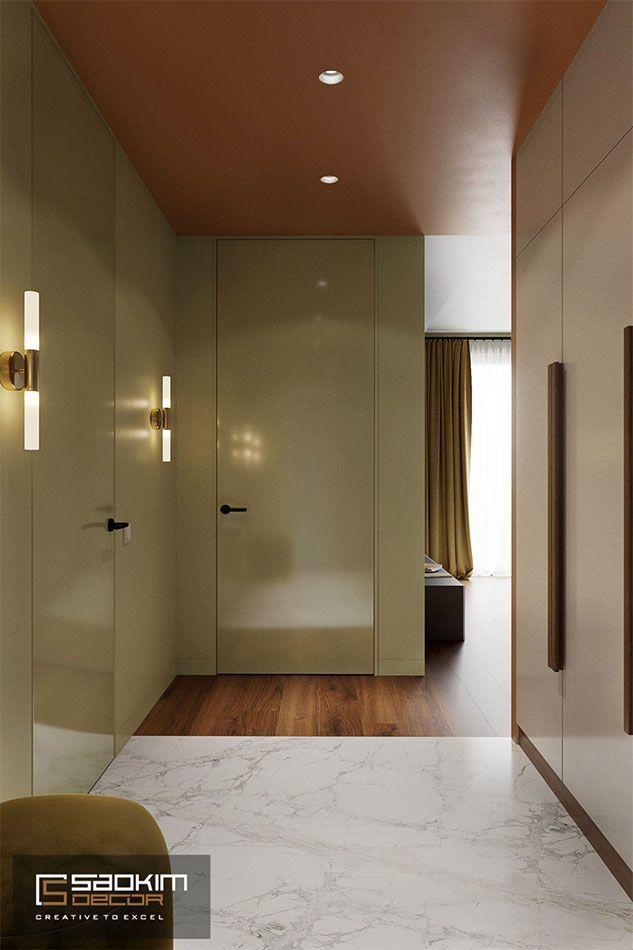 Thiết kế tiền sảnh chung cư phong cách Colour Block