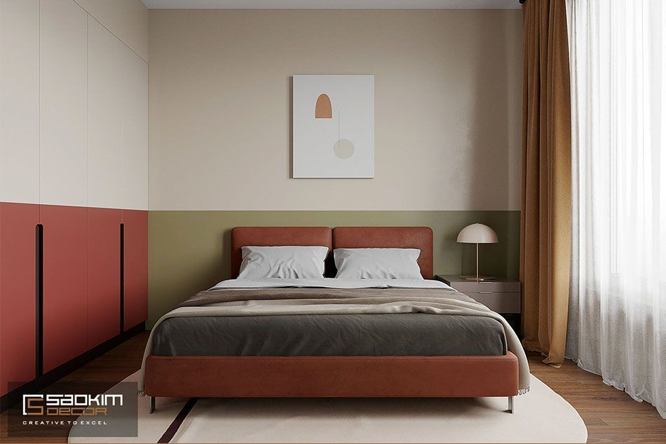 Thiết kế phòng ngủ căn hộ 50m2 Sunshine Garden