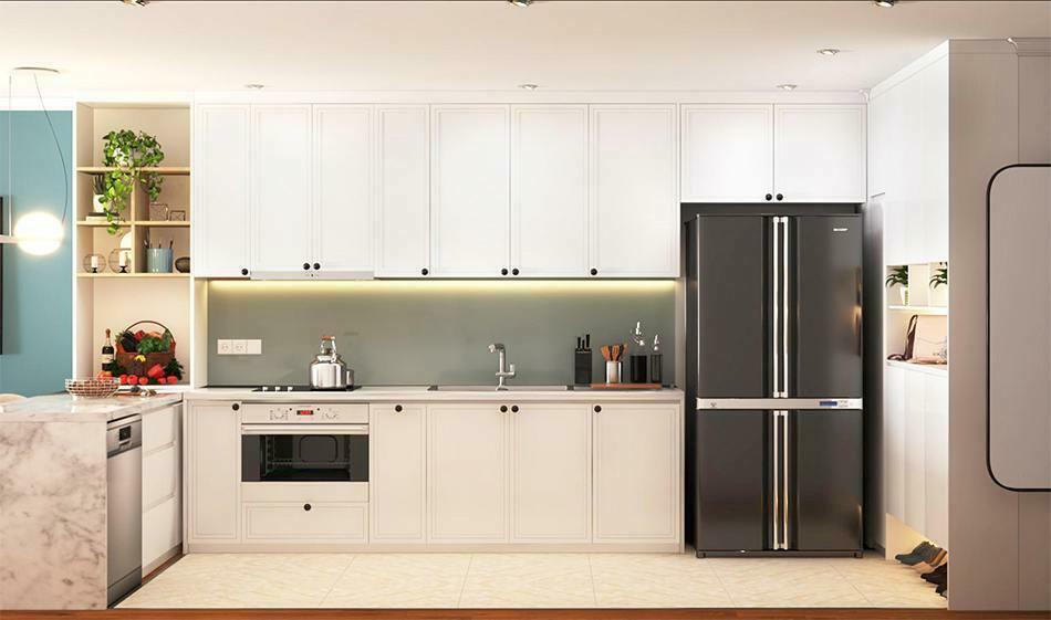Thiết kế phòng bếp căn hộ phong cách Scandinavian dự án Sunshine Garden