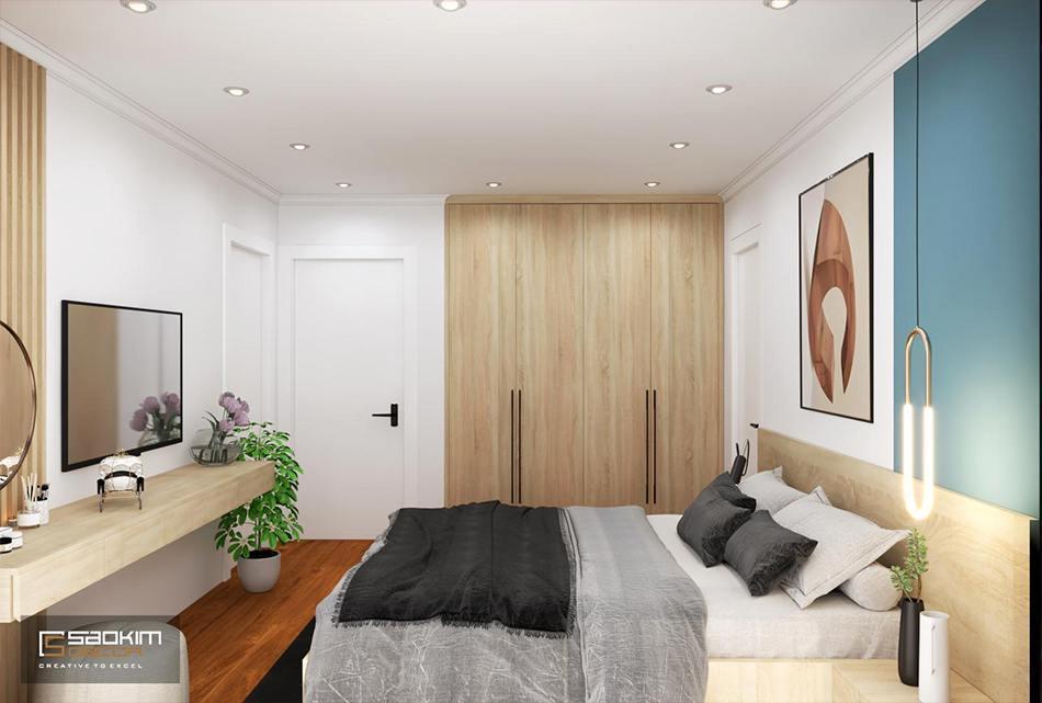 Thiết kế phòng ngủ căn hộ phong cách Scandinavian dự án Sunshine Garden