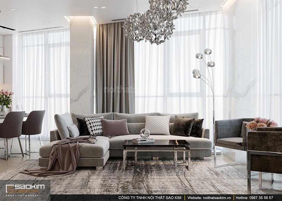 Thiết kế căn hộ chung cư 56m2 Sun Grand City
