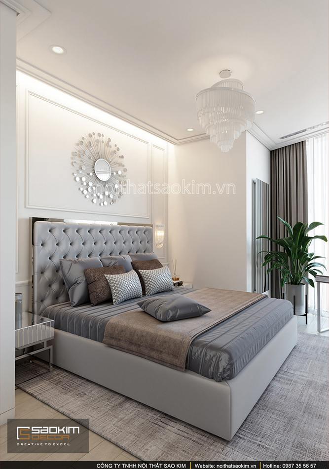 Thiết kế phòng ngủ căn hộ chung cư Sun Grand City