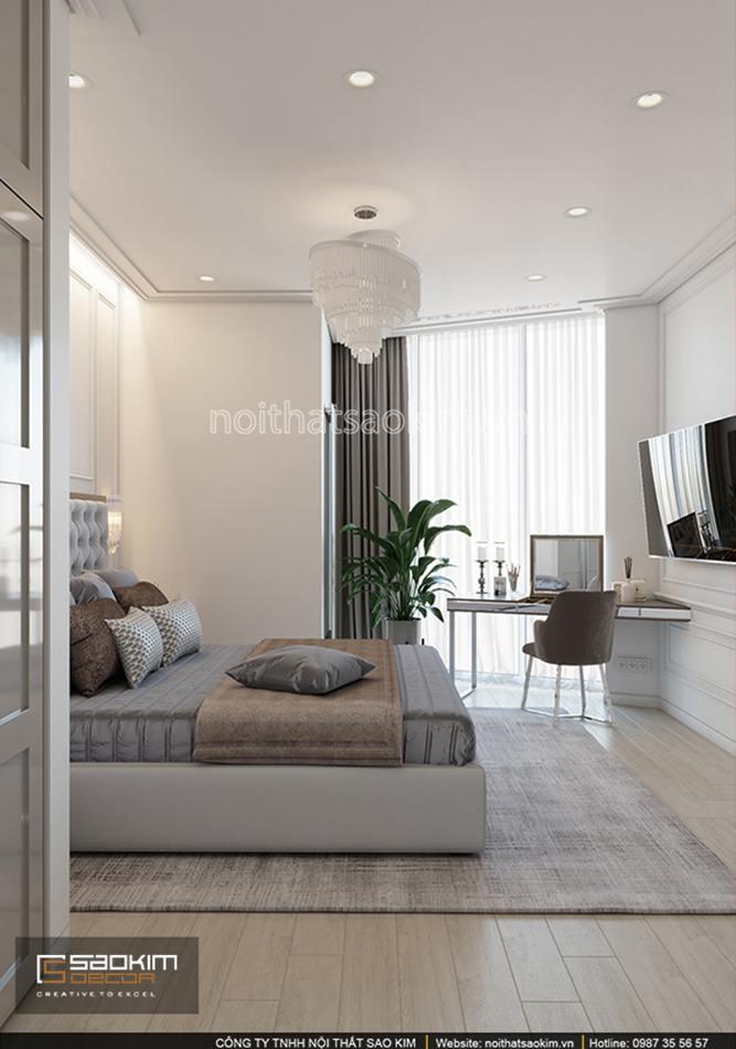 Thiết kế phòng ngủ chung cư Sun Grand City