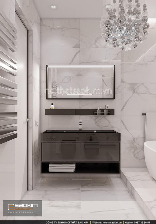 Thiết kế phòng tắm căn hộ chung cư Sun Grand City