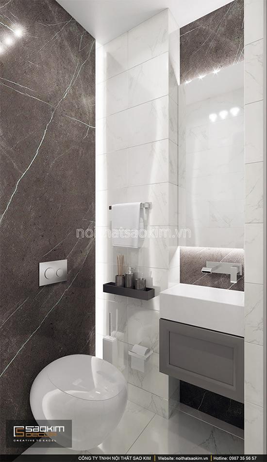 Thiết kế phòng tắm 2 chung cư