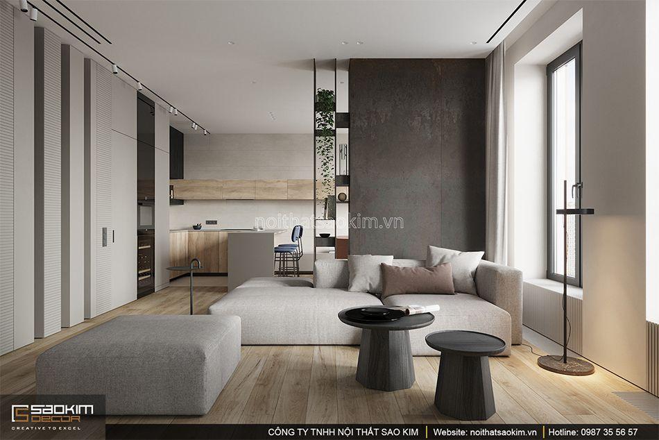 Thiết kế chung cư 93m2 Indochina Plaza