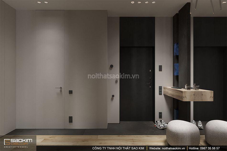 Thiết kế hành lang căn hộ
