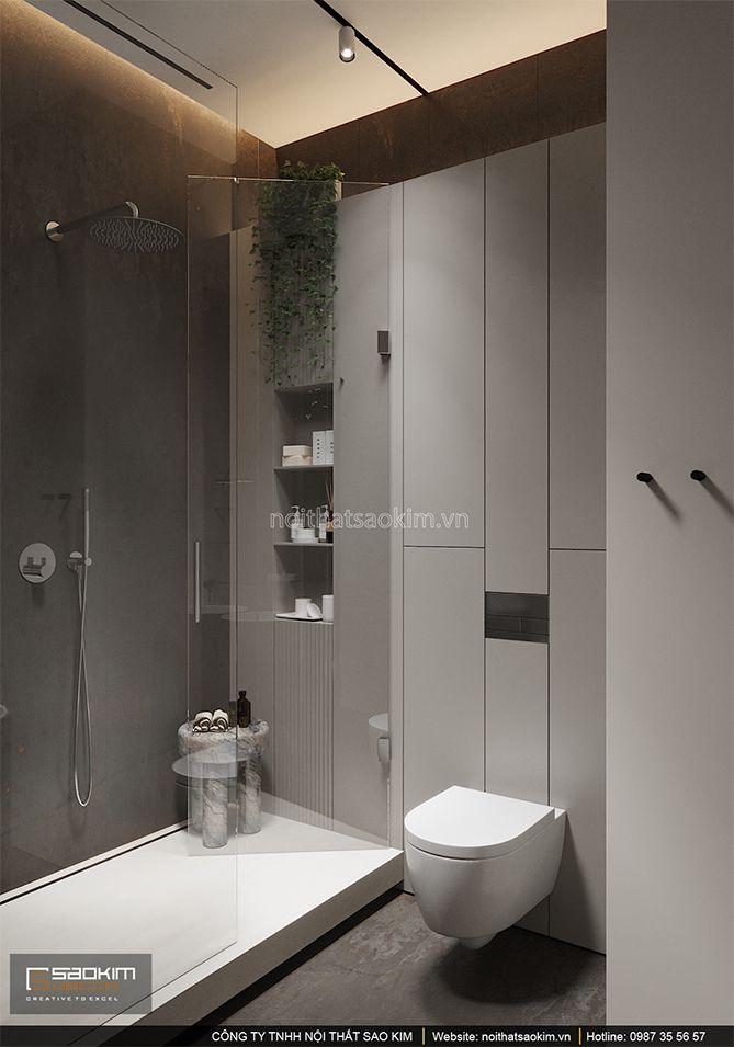 Thiết kế phòng tắm mang vẻ sang trọng, hiện đại