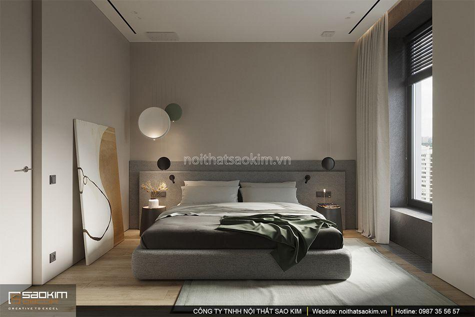 Thiết kế phòng ngủ master chung cư Indochina Plaza