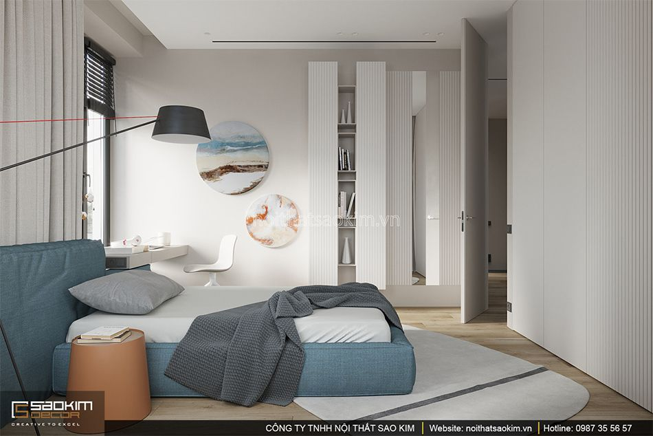 Thiết kế phòng ngủ chung cư Indochina Plaza