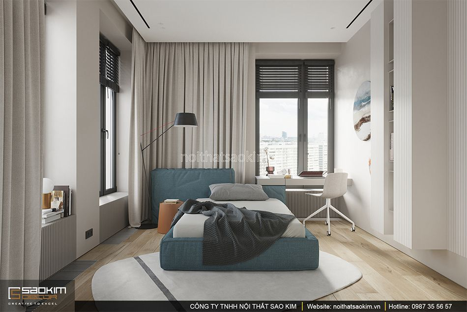 Thiết kế phòng ngủ theo phong cách Đài Loan