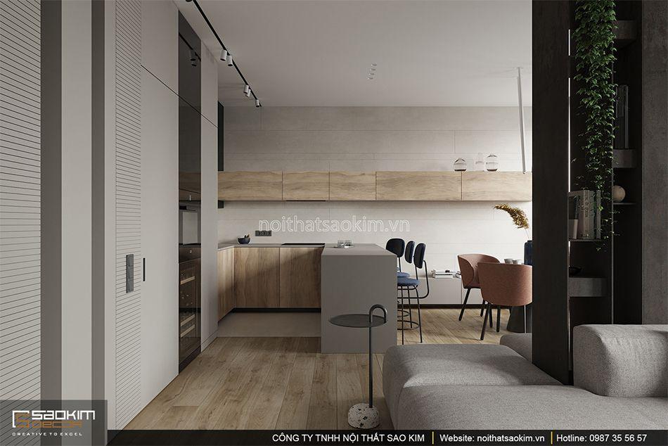 Thiết kế phòng bếp chung cư 93m2 Indochina Plaza