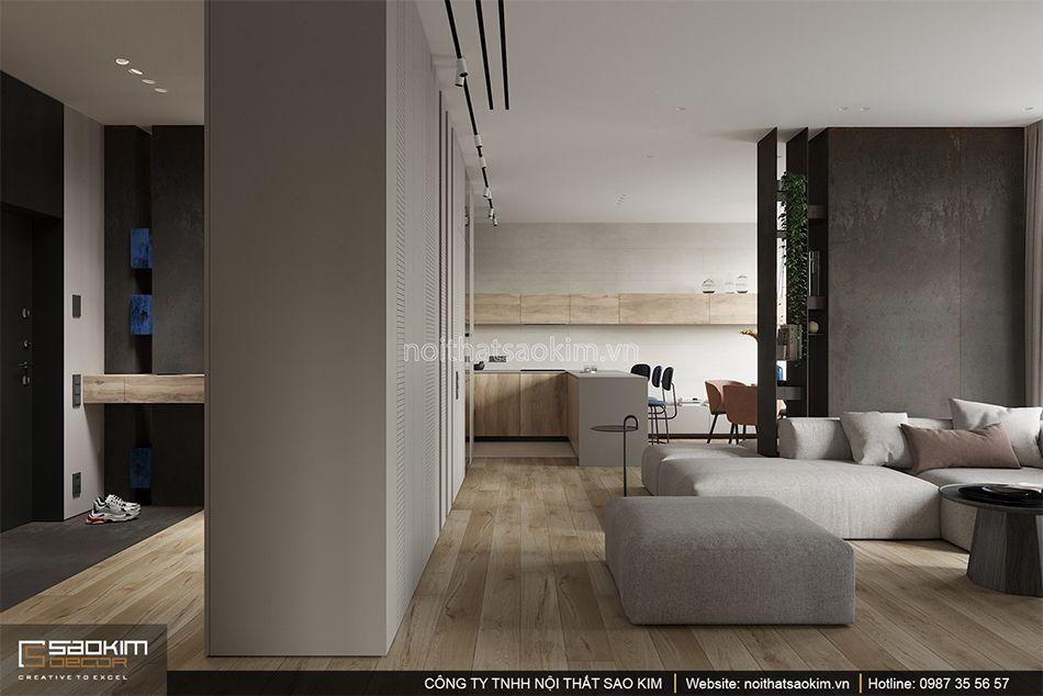 Thiết kế hành lang căn hộ Indochina Plaza