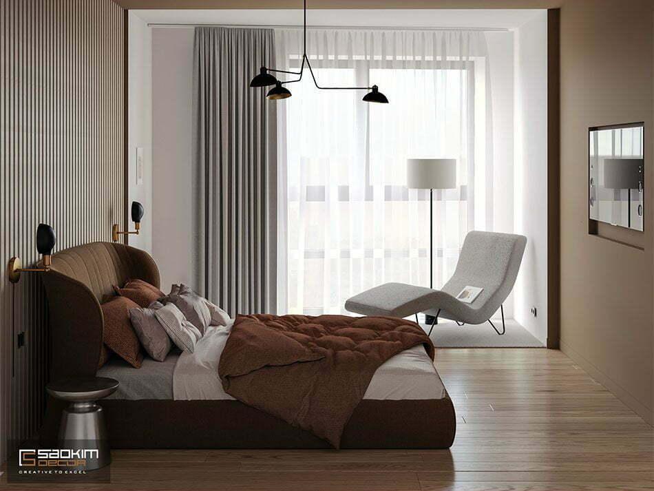 Thiết kế phòng ngủ chung cư phong cách Đài Loan - Vinhomes Metropolis Liễu Giai