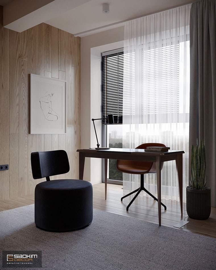 Thiết kế phòng khách chung cư phong cách Đài Loan