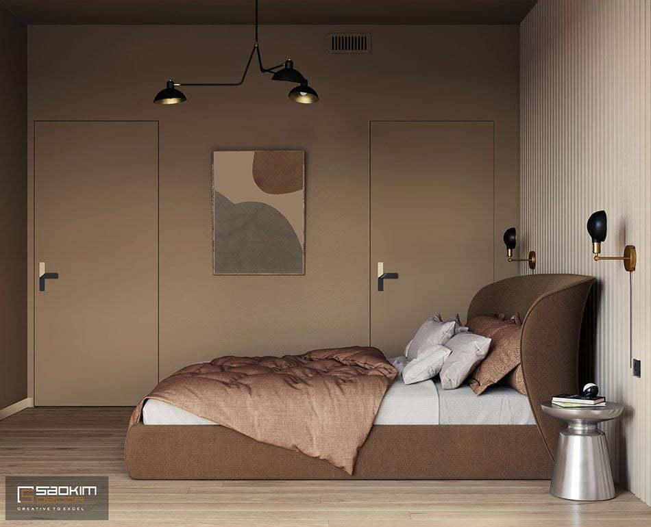 Thiết kế phòng ngủ chung cư nhỏ 55m2 Vinhomes Metropolis Liễu Giai