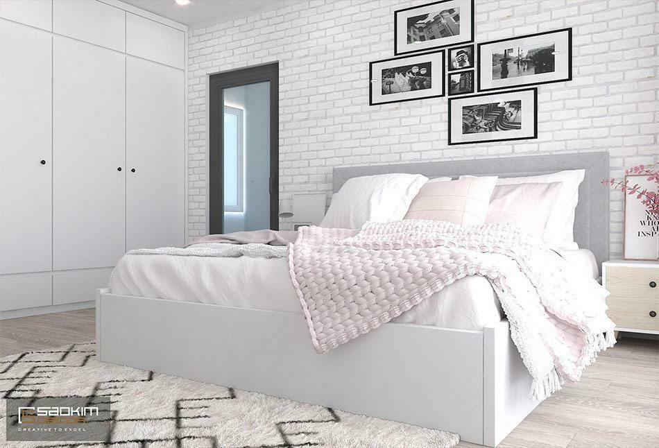 Thiết kế phòng ngủ con gái nhà chung cư đẹp Sunshine Garden