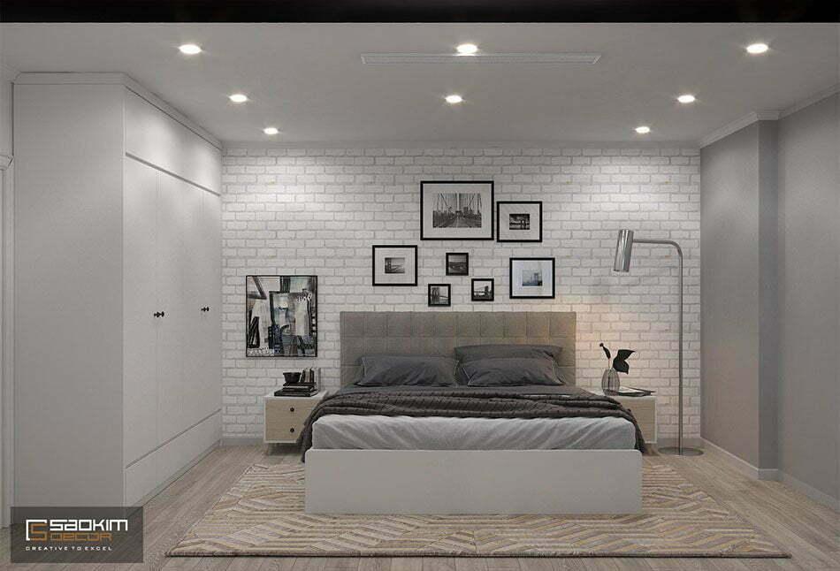 Thiết kế phòng ngủ master nhà chung cư đẹp Sunshine Garden