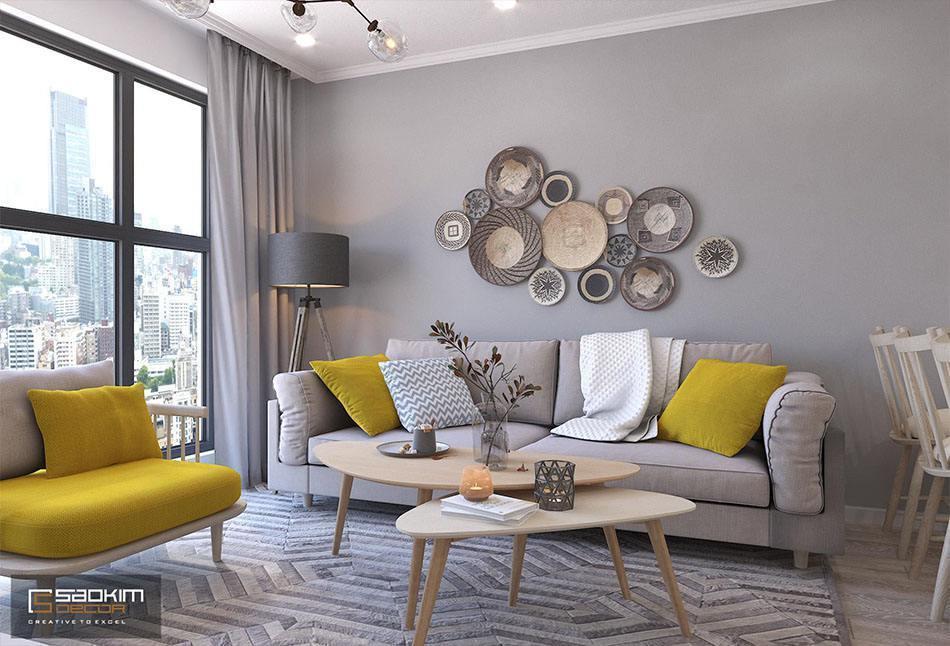 Thiết kế phòng khách nhà chung cư đẹp Sunshine Garden