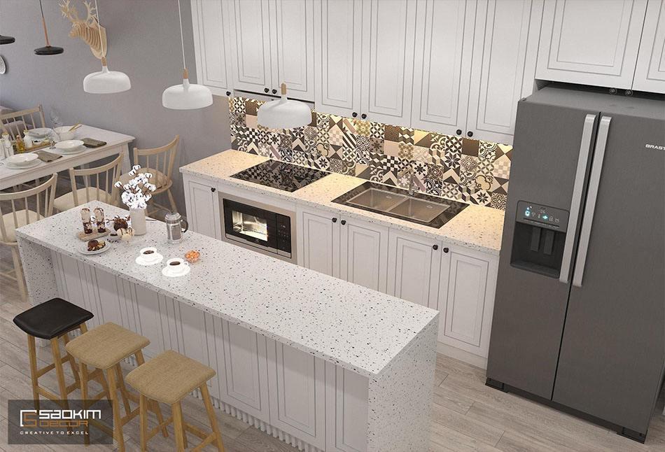 Thiết kế phòng bếp chung cư Sunshine Garden