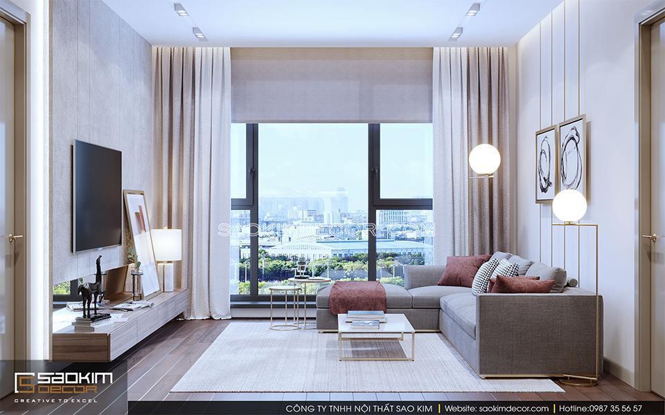 Thiết kế nội thất hiện đại tập trung vào công năng sử dụng, đường nét cân đối, tránh họa tiết rườm rà