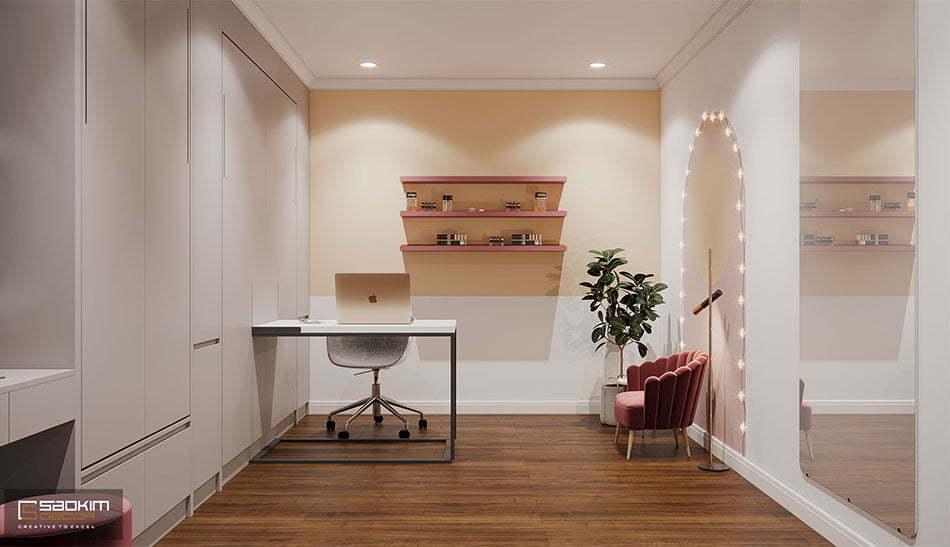 Thiết kế nội thất phòng đa năng phong cách Scandinavian chung cư Sunshine Garden