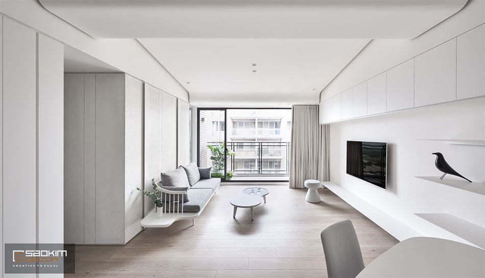 Thiết kế nội thất tối giản chưa chắc đã trống trải
