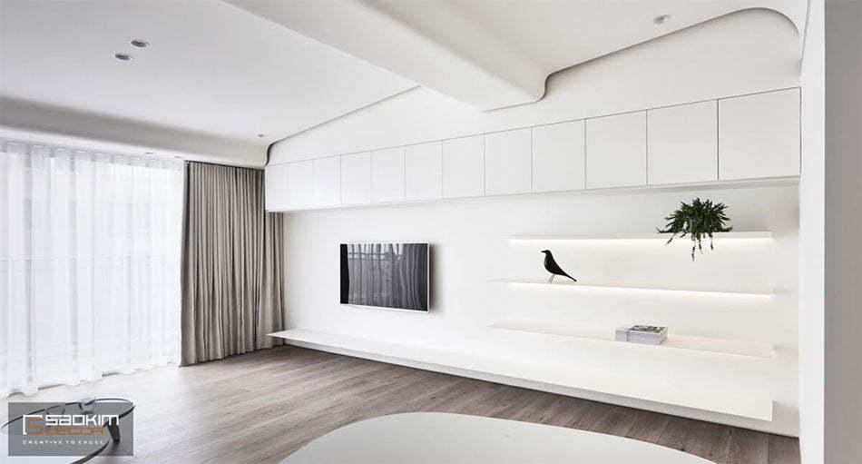 Thiết kế nội thất tối giản (minimalism) giảm bớt những chi tiết xuống mức tối thiểu